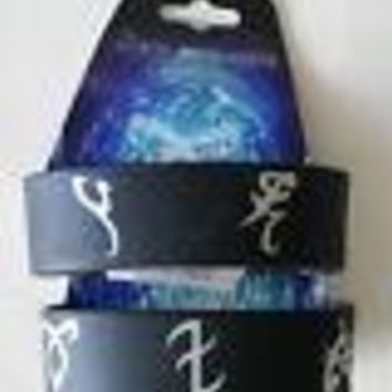 Licensed cool NEW The Mortal Instruments: City of Bones RUNE Symbols Black Rubber Bracelet