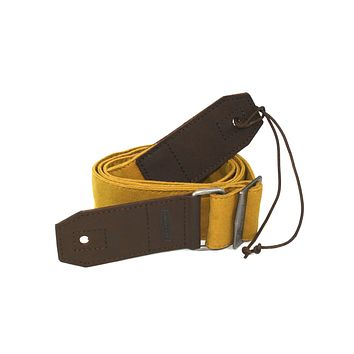 GUITAR STRAP | Mustard Canvas & Leather