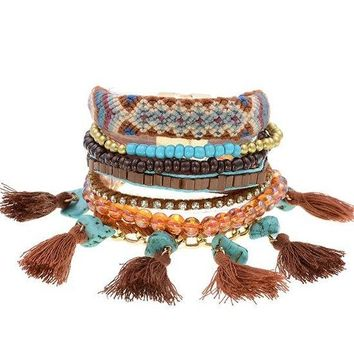 Lots Of Layers Bracelet - Natural