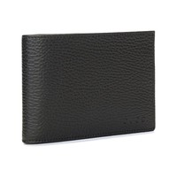 Gucci Men's Black Dollar Calf Leather Bifold Wallet with Coin Pocket and Embossed Gucci Logo 292534