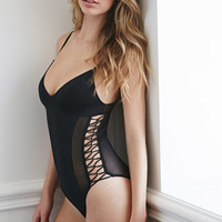 Looped Strappy-Side Bodysuit