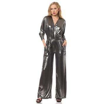 Silver Metallic Jumpsuit