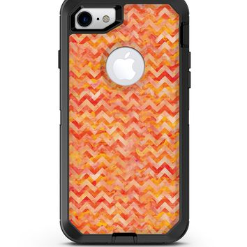 Orange Basic Watercolor Chevron Pattern - iPhone 7 or 8 OtterBox Case & Skin Kits