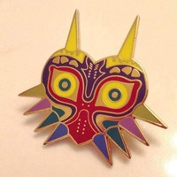 Legend Of Zelda Brooches Majoras Mask Pins Game Jewelry,Gold Enamel Majoras Mask Kolye Pins