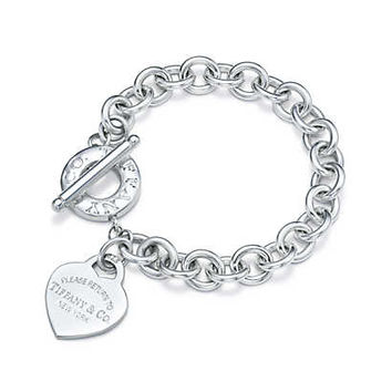 882ac741748f38 Shop Sterling Silver Heart Toggle Bracelet on Wanelo