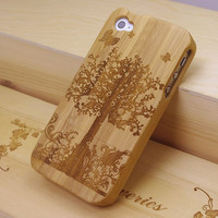 Wooden Apple Tree iPhone 4s Cases