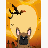 Halloween French Bulldog Brown Tall Boy Beverage Insulator Hugger BB4279TBC