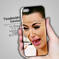 Kim kardashian crying face - Print on Hard Cover For iPhone 4/4S , iPhone 5 Case and For Samsung Galaxy S3 , Samsung Galaxy S4