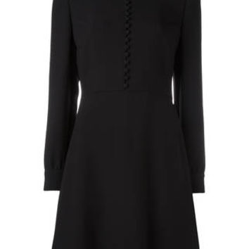 Red Valentino Front Button Flared Dress - Farfetch