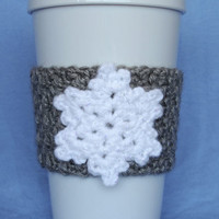 Crochet Snowflake Coffee Cup Cozy