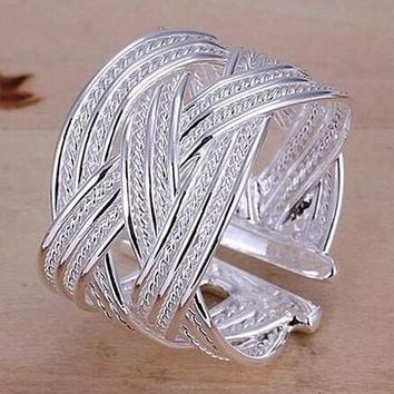 Sterling Silver Plated Claw Ring