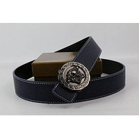 VERSACE Woman Men Fashion Smooth Buckle Belt Leather Belt