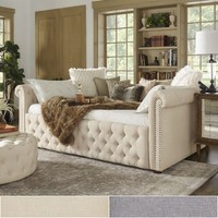 Knightsbridge Full Size Tufted Scroll Arm Chesterfield Daybed and Trundle by iNSPIRE Q Artisan   Overstock.com Shopping - The Best Deals on Kids' Beds
