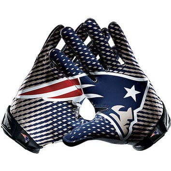 Men's Nike New England Patriots Vapor Jet 2.0 Gloves