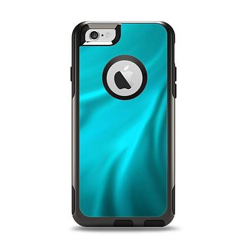 The Turquoise Blue Highlighted Fabric Apple iPhone 6 Otterbox Commuter Case Skin Set