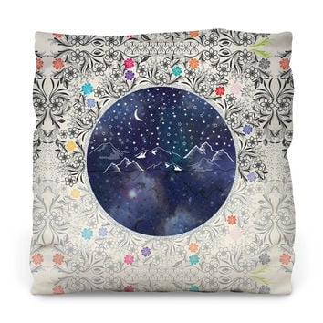 Beautiful Starry Night Outdoor Throw Pillow