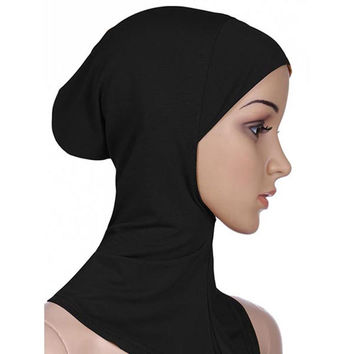 Full Cover Inner Muslim Cotton Hijab Cap Islamic Head Wear Hat  SM6
