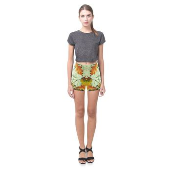 Autumn Wet Leaf All-Over Skinny Shorts
