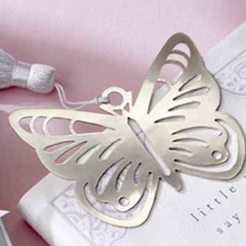 Butterfly Silver Metal Bookmark