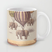Flight of the Elephants Mug by Terry Fan | Society6
