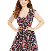 American Rag Printed Smocked-Waist Dress, Only at Macy's