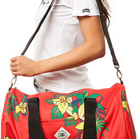 The Journey Duffle in Red Floral