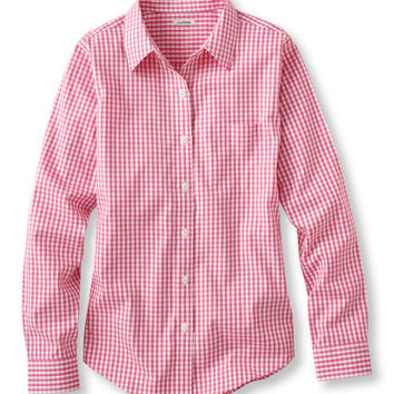 Women's Wrinkle-Free Pinpoint Oxford Shirt, Long-Sleeve Gingham | Free Shipping at L.L.Bean