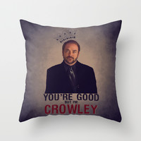 I'm Crowley - Supernatural Throw Pillow by KanaHyde