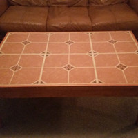 Beautiful handcrafted title coffee table with matching end table option