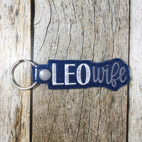 Key Fob, Keychain, Leo Wife, Police Wife, Police Gift, Policeman Gift, Leo Wife Gift, Mothers Day Gift, Friend Gift, Birthday Gift, Wife