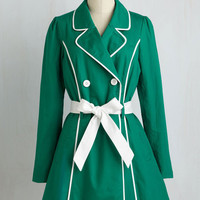 50s Long Long Sleeve East Coast Tour Coat in Grass