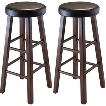 Bar Stools Antique Walnut Counter Height Kitchen Seats