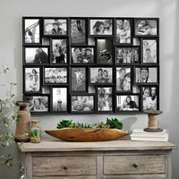 Black 24-Opening Collage Frame