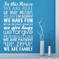 In this house II vinyl for housewares - Wall-Decals - Wall Decals
