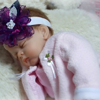 Baby Flower Head band, baby headband with Flowers