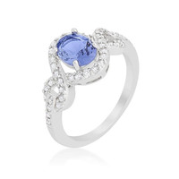 Tanzanite Halo Pave Cocktail Ring, size : 07