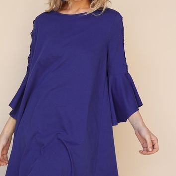 Umgee Cutout Shoulder Dress