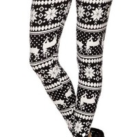 A.S Juniors Print Good Weight Long Legging Yoga/Gym Pants (One Size)