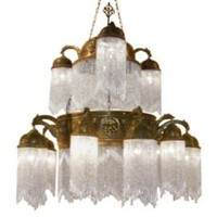 One Kings Lane - Well-Traveled Pieces - Large Beaded Brass Riad Chandelier, White