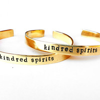 sister bracelet friendship bracelet - matching jewerly - kindred spirits gold boho natural brass bracelet