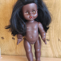Vintage Black Doll, African American Doll, Unica Belgium, Collectible Doll, Home Decor