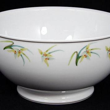 "Vintage Lalique Limoges ""Orchidees"" Salad Bowl - Elegant Birthday/Wedding/Engagement/Shower/Housewarming Gift"