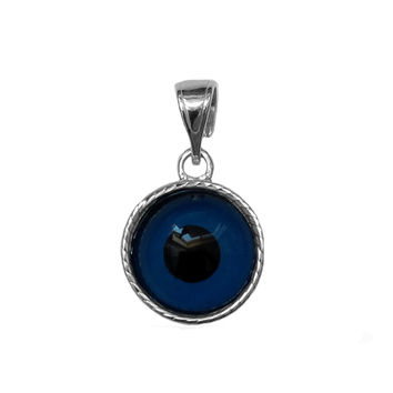 Sterling Silver Greek Meandros Evil Eye