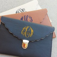 Monogram Scallop Clutch