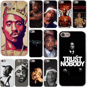 2Pac Tupac Shakur Hard Phone Cover Case Transparent for Apple iPhone 7 7 Plus 6 6s Plus 5 5S SE 5C 4 4S Coque Shell