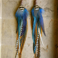 40% OFF the ENITRE SHOP: Peace and Love Extra Long Feather Earrings