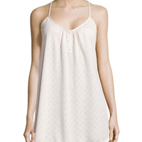 Earl Textured Chemise, Sugar, Size: