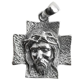 925 Sterling Silver Jesus Christian Cross Pendant For Men