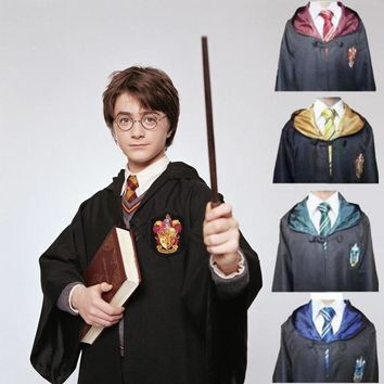 Harry Potter Outfits Cape Hogwarts Uniform Cloak Gryffindor Ravenclaw cosplay Magic Robe Halloween costume for kids and adults