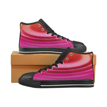 02 welle - ripple High Top Canvas Women's Shoes/Large Size (Model 017) | ID: D2691383